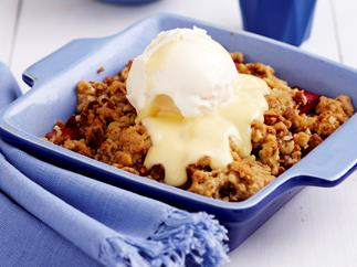 fruity spice crumble