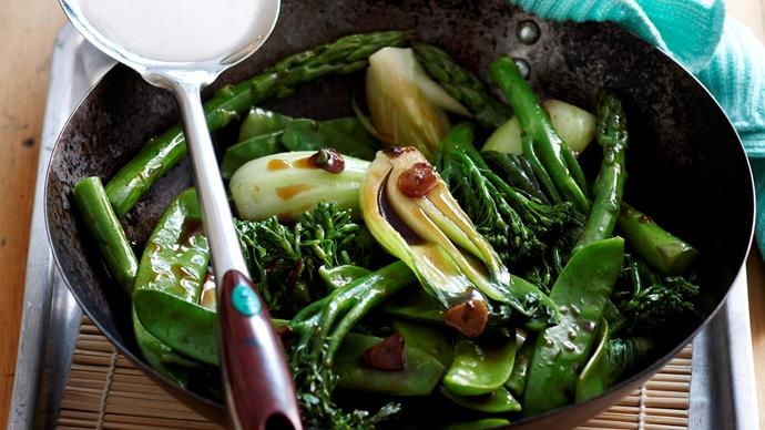 Heavenly Garlic Greens