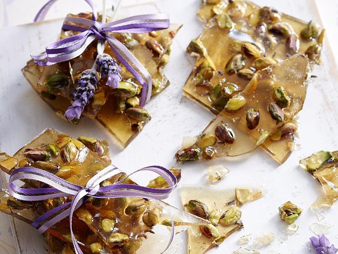 "[Honey, lavender and nut praline](http://www.foodtolove.com.au/recipes/honey-lavender-and-nut-praline-12230|target=""_blank"")"