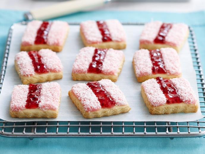 "[Iced vovo biscuits](https://www.womensweeklyfood.com.au/recipes/iced-vovos-18688|target=""_blank"")"