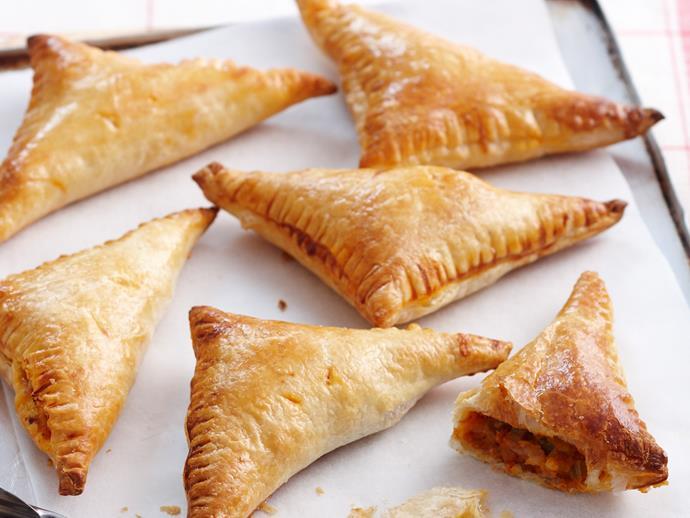 """**[Lentil pasties](https://www.womensweeklyfood.com.au/recipes/lentil-pasties-18745 target=""""_blank"""")**"""
