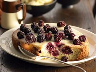 Moist blackberry pudding