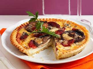 Mushroom and blue cheese tart