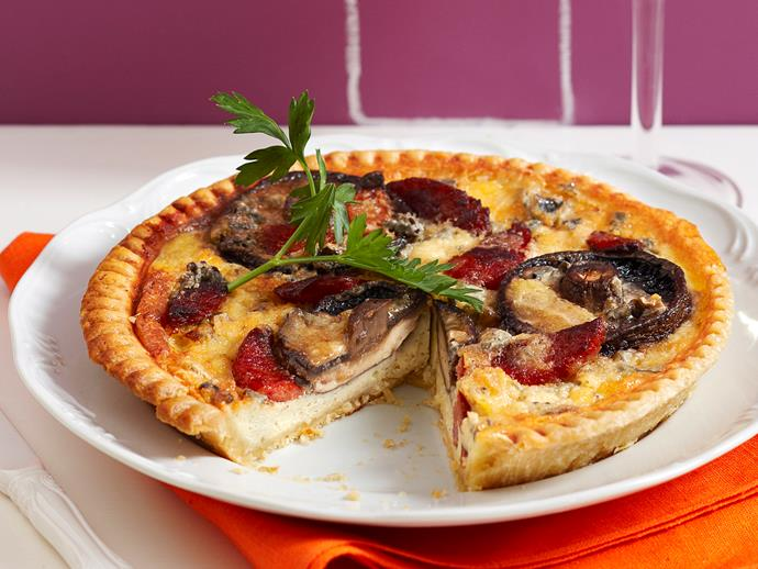 """**[Mushroom and blue cheese tart](https://www.womensweeklyfood.com.au/recipes/mushroom-and-blue-cheese-tart-25910