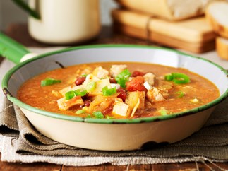 North African chiken and kidney bean soup