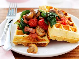 parmesan and chive waffles