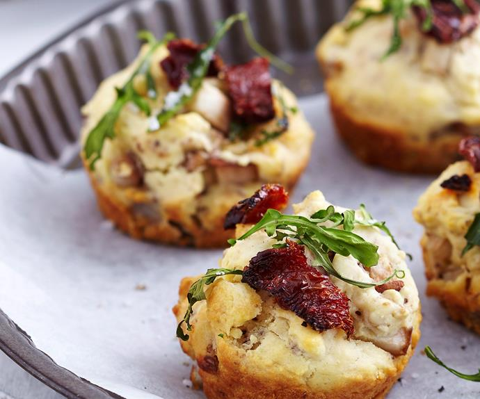 Pear, blue cheese and rocket muffins
