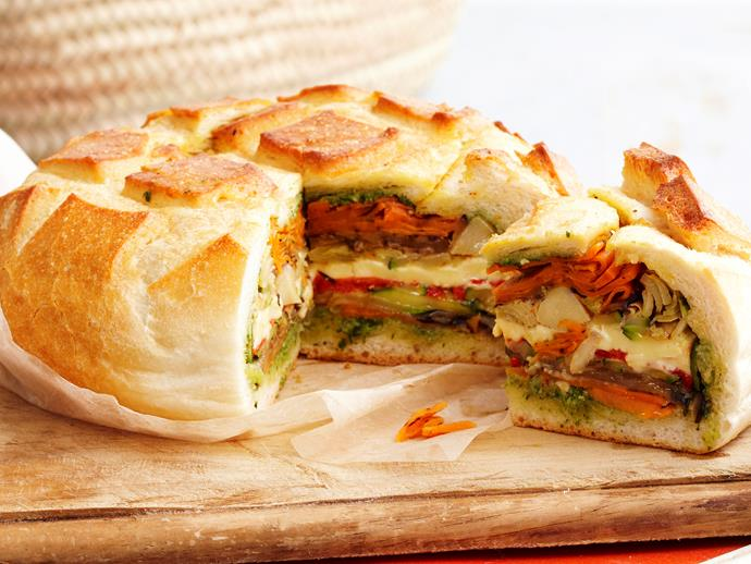 "[Picnic loaf](https://www.womensweeklyfood.com.au/recipes/picnic-loaf-18311|target=""_blank"")"