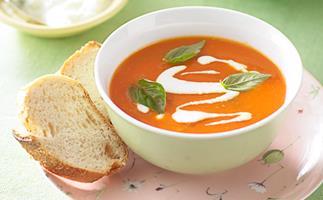 roast kumara, capsicum and lentil soup