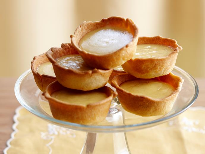 "**[Rustic mini custard tarts](https://www.womensweeklyfood.com.au/recipes/rustic-mini-custard-tarts-18438|target=""_blank"")**"