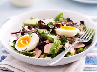Salmon, Avocada and Egg Salad