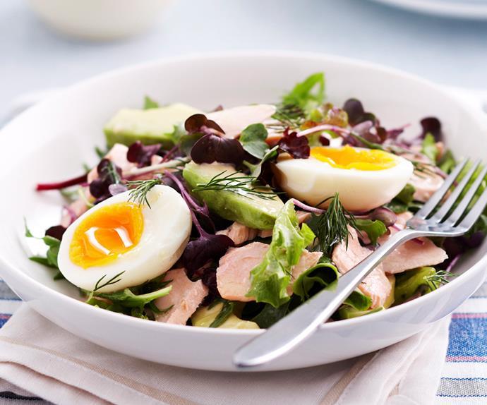Salmon, Avocada and Egg Salad