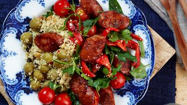 Spiced chorizo couscous salad