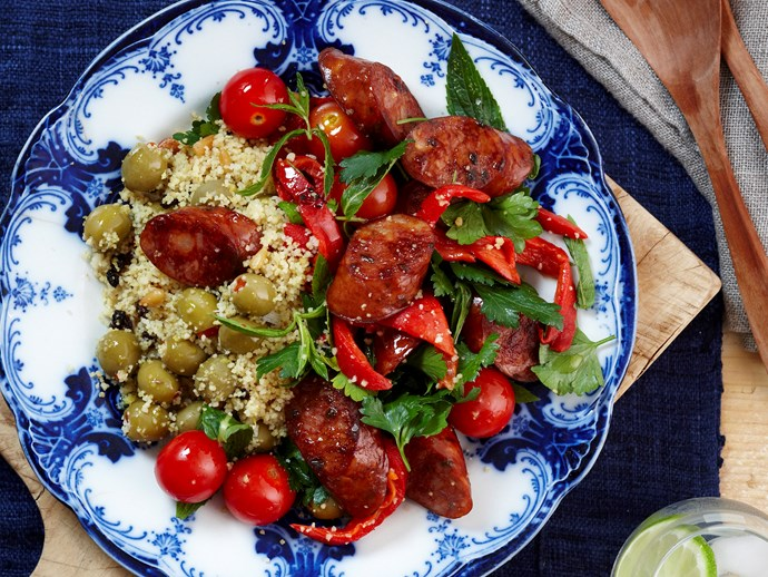 Spiced Chorizo couscous salad
