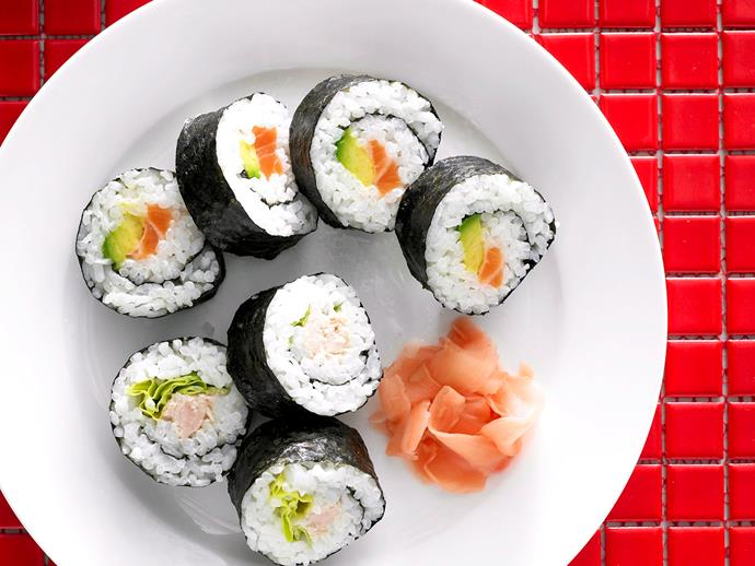 """[Sushi](http://www.womensweeklyfood.com.au/sushi-recipes-30459