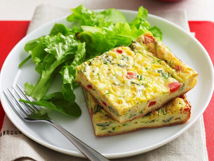 """Protein packed and full of flavour, this [vegetable slice](https://www.womensweeklyfood.com.au/recipes/vegetable-slice-18065