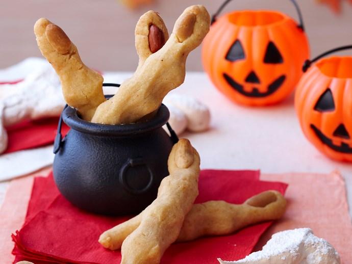 Witches fingers and meringue bones