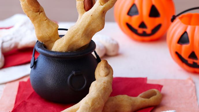 Witches fingers and meringue bones