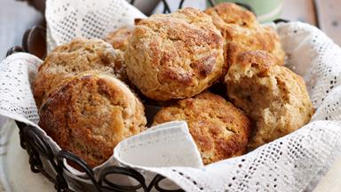 Apple, ricotta and cinnamon scones