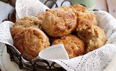 Apple, ricotta and cinnamon scones