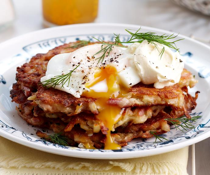 Bacon and potato fritters