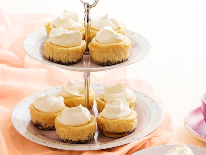 "**[Baileys cheesecakes](https://www.womensweeklyfood.com.au/recipes/baileys-cheesecakes-18108|target=""_blank"")**"