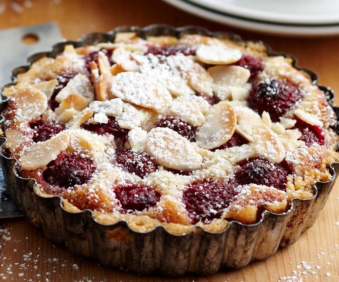 Bakewell raspberry tarts