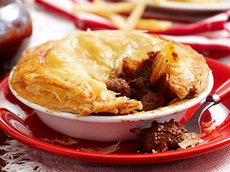 Beef, mushroom and Guiness pies