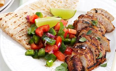 Cajun chicken with chunky salsa