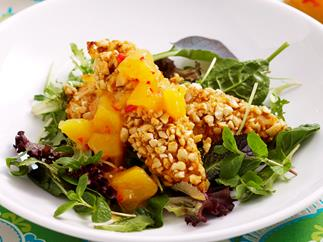 Cashew chicken with mango chutney