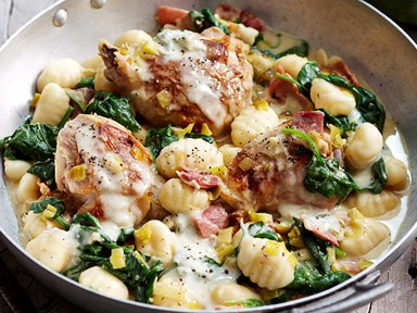 Chicken with gnocchi