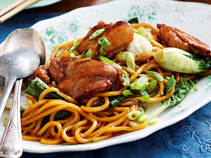 "**[Chinese plum chicken](https://www.womensweeklyfood.com.au/recipes/chinese-plum-chicken-17702 target=""_blank"")**"