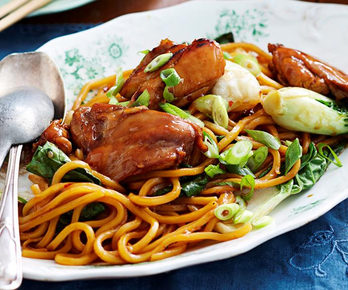 Chinese plum chicken