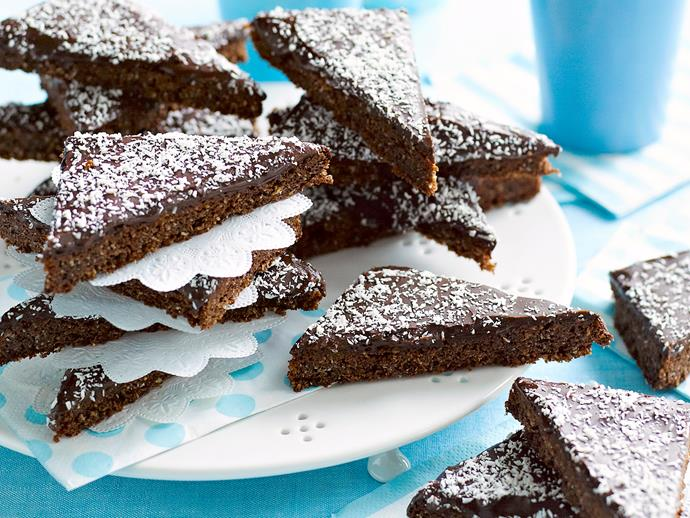"""**[Chocolate and coconut slice](https://www.womensweeklyfood.com.au/recipes/chocolate-and-coconut-slice-17715