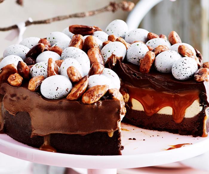 Chocolate caramel cheesecake