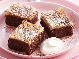 Chocolate custard slice