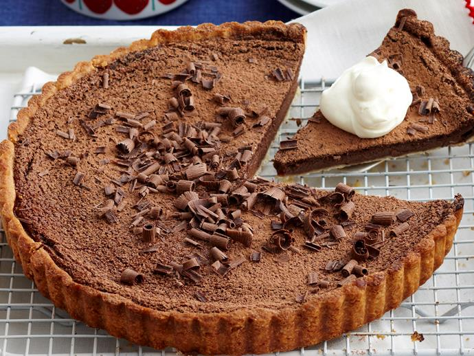 "**[Chocolate custard tart](https://www.womensweeklyfood.com.au/recipes/chocolate-custard-tart-17722|target=""_blank"")**  Add a chocolate twist to the classic custard tart for truly indulgent dessert."