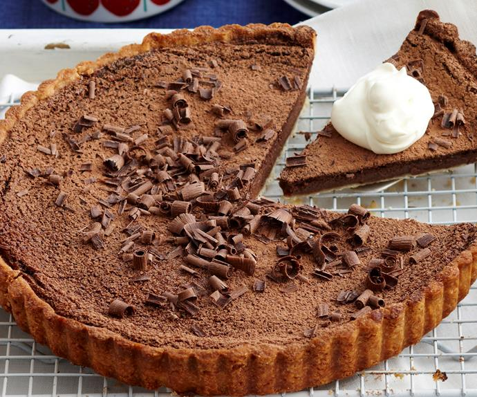 Chocolate custard tart