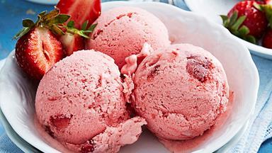 Chunky strawberry ice-cream