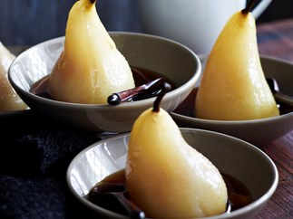 Cinnamon pears in syrup