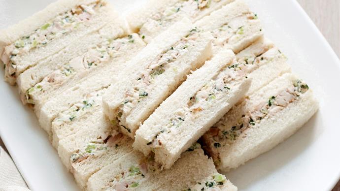 Classic chicken ribbon sandwiches