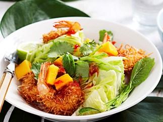 Coconut prawn and papaya salad