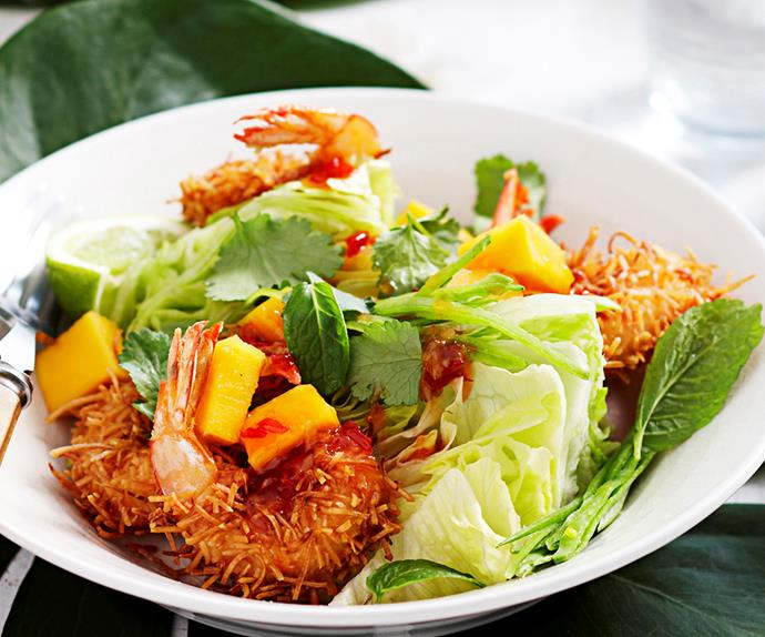 Coconut prawn and papaya salad