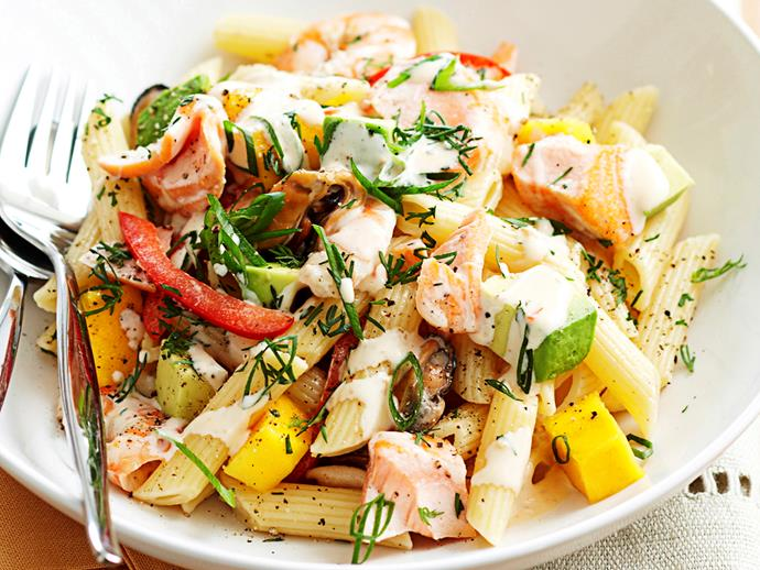"""**[Cold seafood salad](https://www.womensweeklyfood.com.au/recipes/cold-seafood-salad-17784
