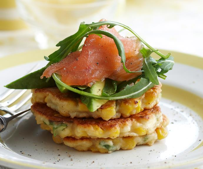 Corn and ricotta fritters