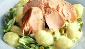 Creamy salmon gnocchi