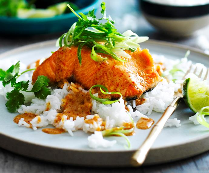 Crispy Thai salmon