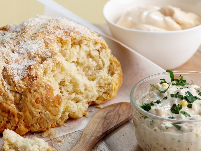 "[Damper and dips](http://www.foodtolove.com.au/recipes/damper-and-dips-5627 target=""_blank"")"
