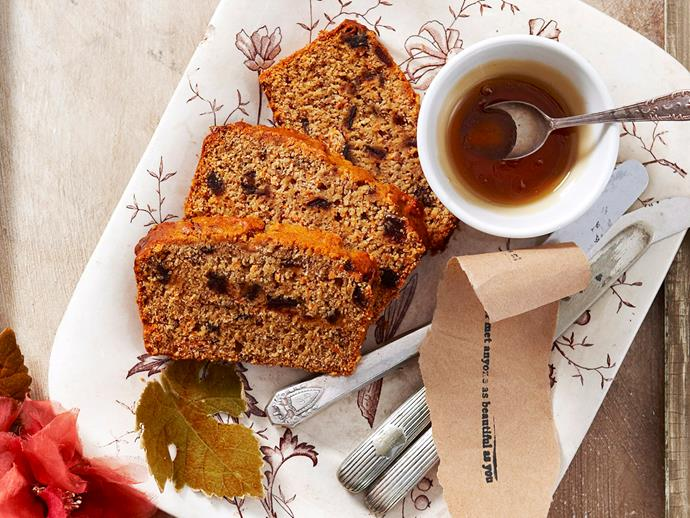 """Naturally sweet and perfectly fluffy, prepare this golden [date, carrot and honey loaf](https://www.womensweeklyfood.com.au/recipes/date-carrot-and-honey-loaf-27831