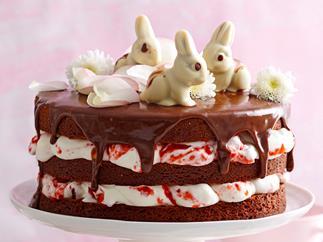 Easter triple-layer mud cake